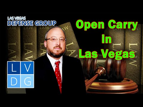 """Can I openly carry a gun in Las Vegas? Nevada """"open carry"""" firearm laws."""