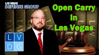 "Can I openly carry a gun in Las Vegas? Nevada ""open carry"" firearm laws."