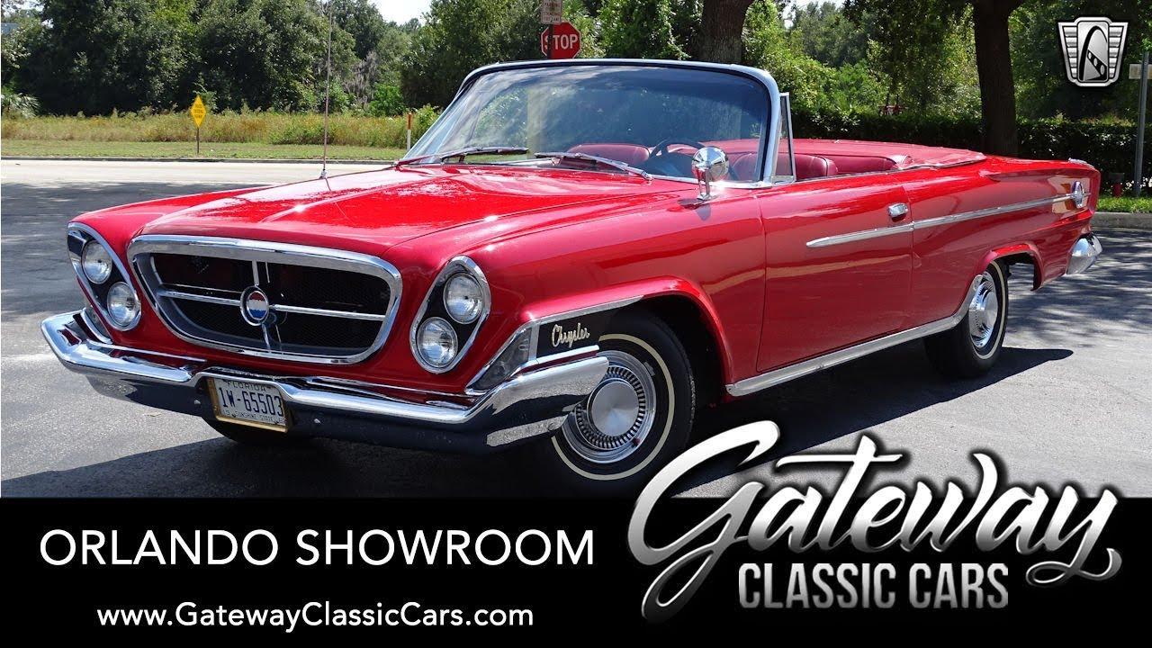 1962 Chrysler 300 Sport Convertible Gateway Classic Cars Orlando 1537