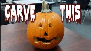 Freestyle Jack O' Lantern Carving *be Safe | Freakeating Halloween Fun 2014