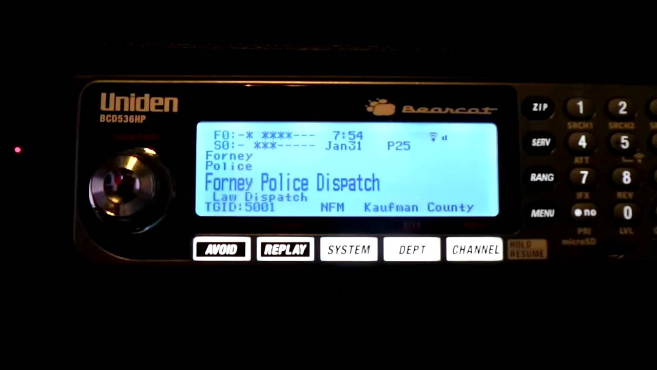 forney p25 phase ii on uniden bcd-536hp