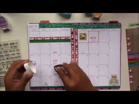 Decorating My Filofax - Monthly Calendar for August