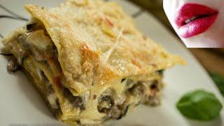 Lasaña Afrodisiaca de Salchicha y Verduras - Cocineros Italianos
