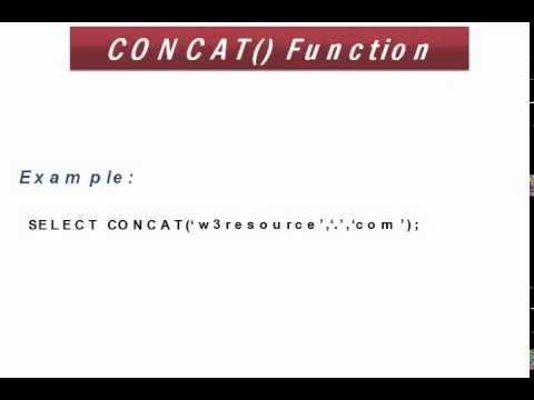 Mysql Concat Function