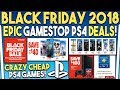 Epic GameStop PS4 Black Friday Deals Revealed! God of War is Super Cheap!