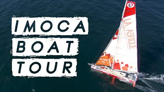 VENDEE GLOBE  MOCA BOAT TOUR Check Out Pip Hares 60ft Racing Yacht Up Close