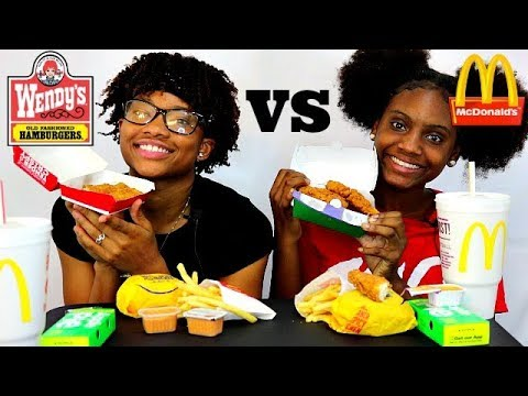 mcdonalds vs wendys In several recently released percentages, wendy's foods have read to be healthier than mcdonald's foods, yet there is an equal debate between the chain that serves the better flavoured food 17k views view upvoters.