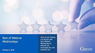 Best of Webinar Wednesdays Highlights From an Award Winning Webinar Series