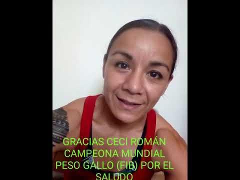 CECI ROMAN GRACIAS CAMPEONA MUNDIAL (FIB), PESO GALLO POR EL SALUDO PARA CAUCETE Y AS DEPORTES.