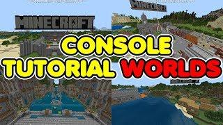 Minecraft Bedrock: ALL CONSOLE Tutorial Worlds DOWNLOAD