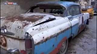 معرض سيارات قديمة في سوريا