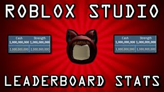 Roblox Studio: How to make leaderboard stats