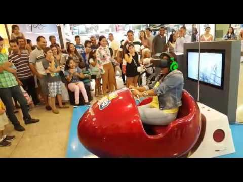 Mulher entra em pânico em simulador 3D de Montanha Russa no Maceió Shopping
