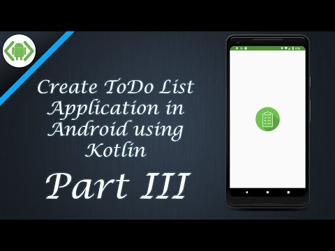 Create ToDo List Application in Android   Part III thumbnail