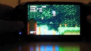 Picodrive (Sega Genesis emulator) Running Sonic on PS Vita 2.12