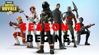Fortnite BR Standard squads!!! Season 3 New Skin Moonwalker!