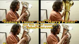 Harry Potter Hedwigs Theme Tuba Quartet + sheet music