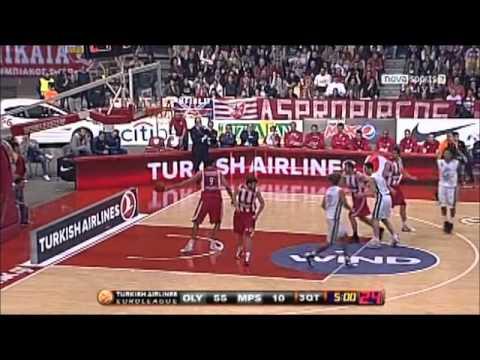 olympiakos vs siena 89-41 2011 euroleague play-off 1st game
