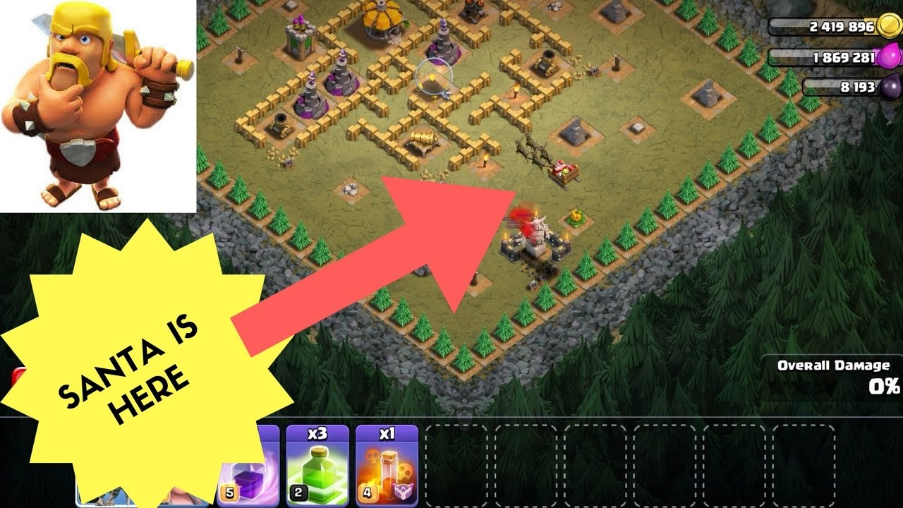 CHRISTMAS GIFT ,GLITCH ,HALLOWEEN UPDATE   CLASH OF CLANS - YouTube