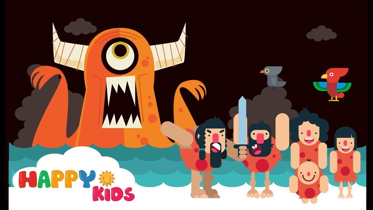 Finger Family Song for Kids Tribe Family fight vs. Monster