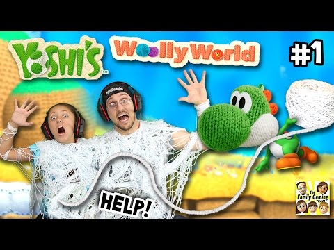 YOSHI ATTACKS US w YARN!   Lets Play YOSHI'S WOOLY WORLD 1   FGTEEV Gameplay Fun!