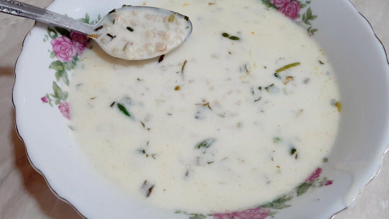 Download Թանով ապուր» Հայկական ապուր Սպաս ! Թանապուր   Armenian Yogurt Soup Spas..Հայկական ավանդական Սպաս,,