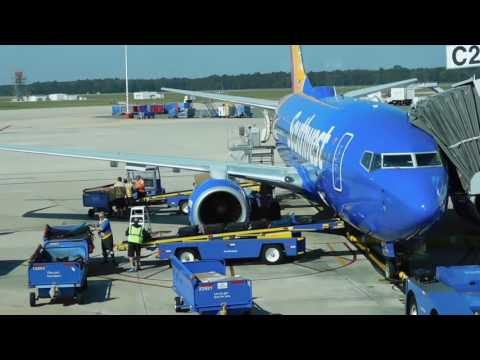 Baggage Handlers At Jacksonville International Airport Throwing Luggage