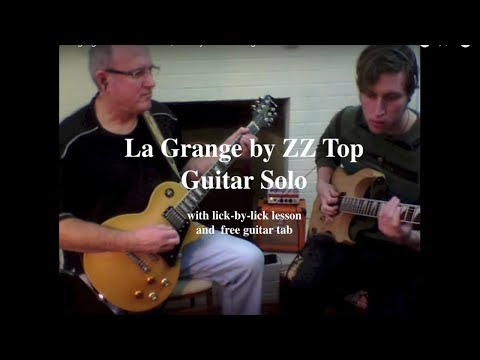 Guitar guitar tabs zz top : ZZ TOP La Grange – solo – guitar lesson with tab | Rick McCargar's ...