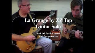 ZZ TOP La Grange guitar solo, lick-by-lick - plus free tab download