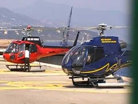 Heliport Monaco - Helicopters landing and takeoff