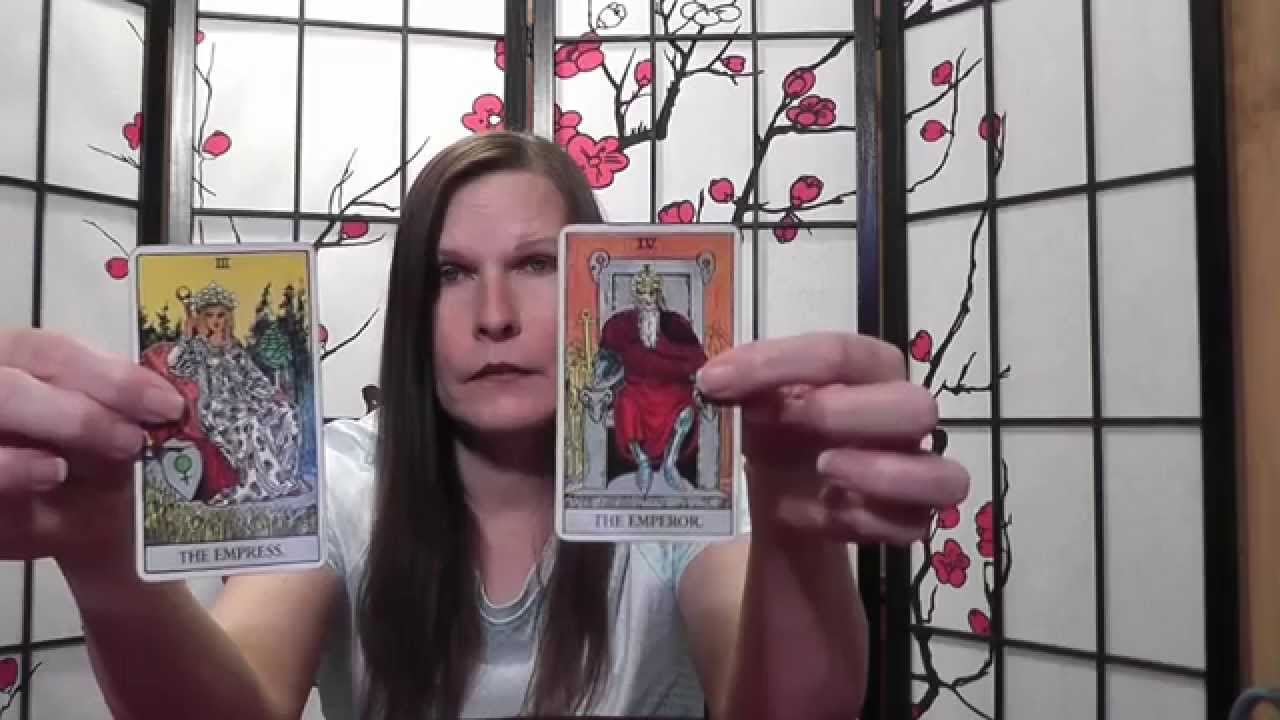 Tarot card lessons made easy, highlighting The Emperor & Empress