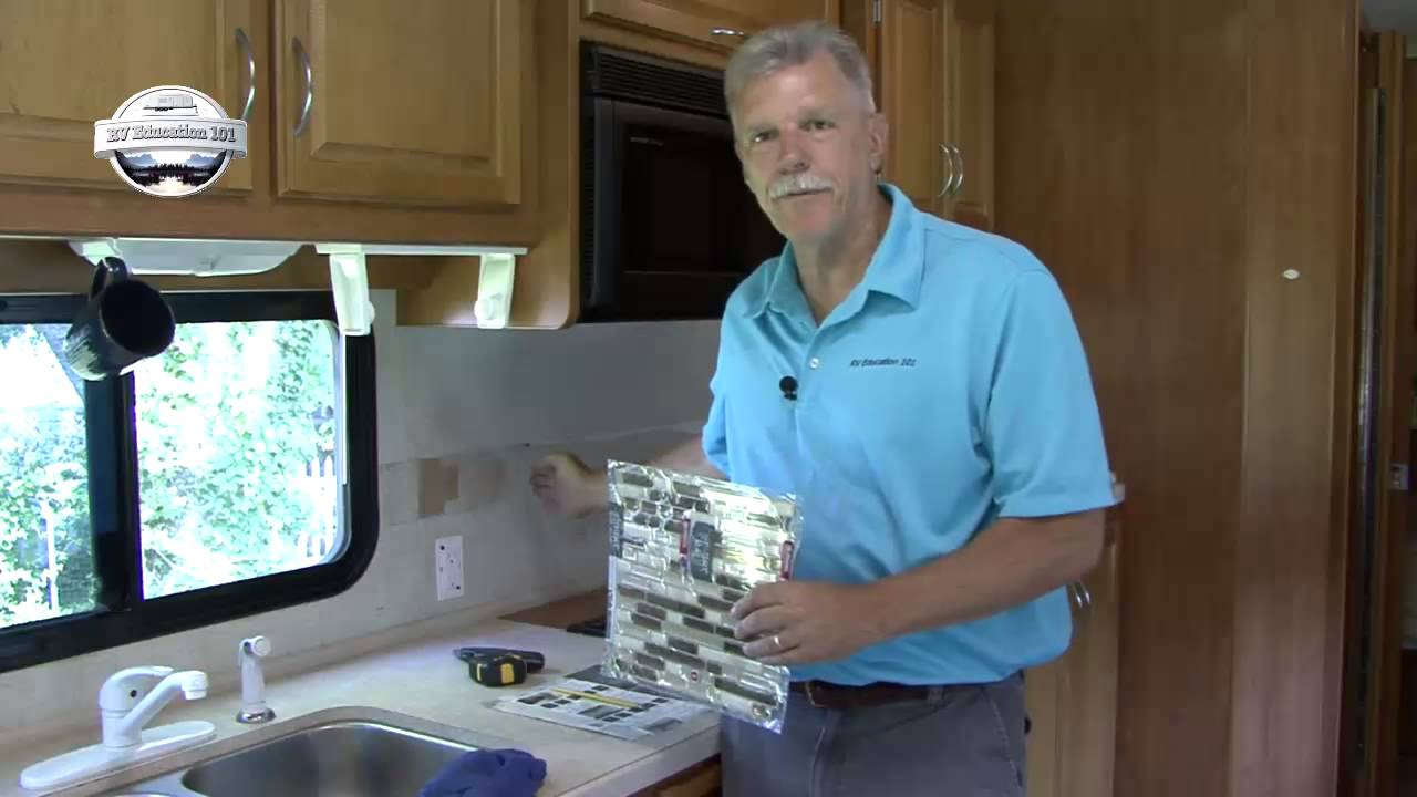 RV DIY Kitchen Tile Project  YouTube