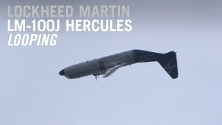 Lockheed Martin LM-100J Does a Loop in its Flying Display at Farnborough Airshow – AINtv Express