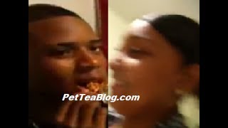 Before The Fame: Fetty Wap & Baby Mama Eating Chicken 🍗 👀 #ThrowBackThursday #FettyWap