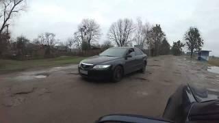 Путевые Заметки.Украина,ноябрь 2017: 'сумеречная зона' - приграничные разбитые дороги, Грушев