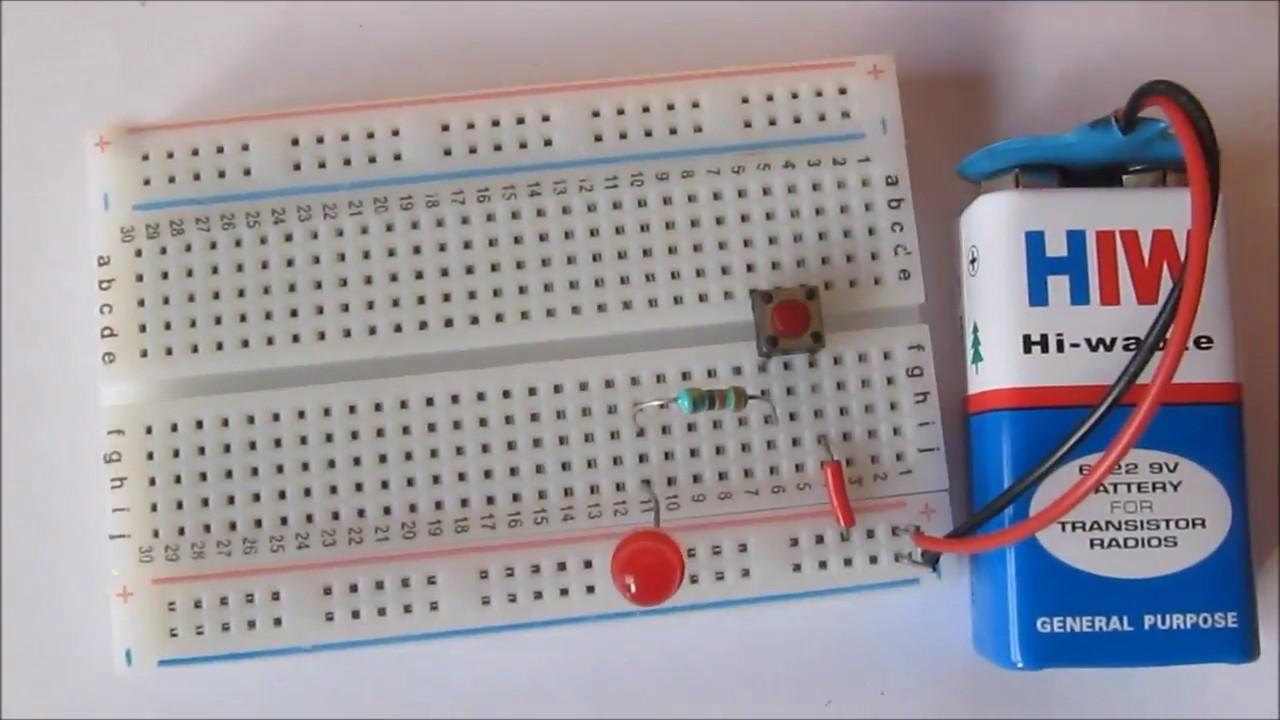 Led Circuit On Breadboard Breadboard Circuit Is
