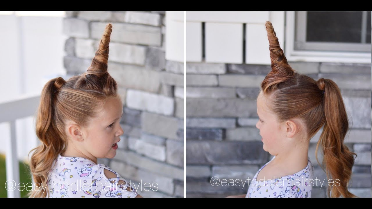Unicorn Hair Tutorial for Halloween or Crazy Hair Day