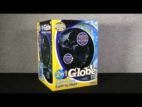2 in 1 Globe Earth by Day Earth by Night by Brainstorm Toys