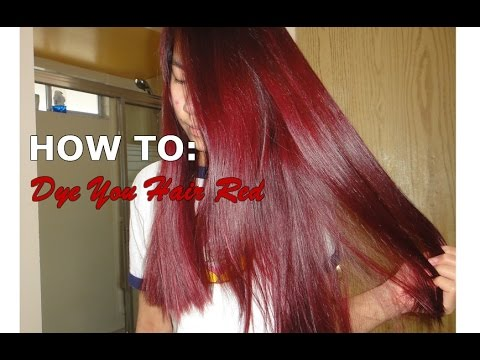 How to Dye Your Hair Red at Home with eSalon - YouTube