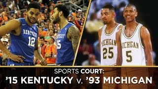 Is the greatest NCAA team that came up short 2015 Kentucky or 1993 Michigan?