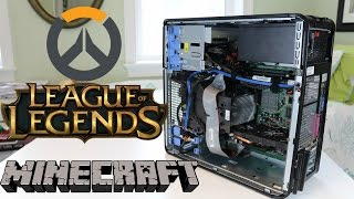 My $100 Gaming PC vs CS:GO, Overwatch, Minecraft, & League of Legends!