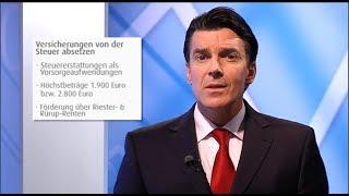 Pecunia Tipp zum Thema Versicherungen von der Steuer absetzen von Experte Dirk Magnutzki