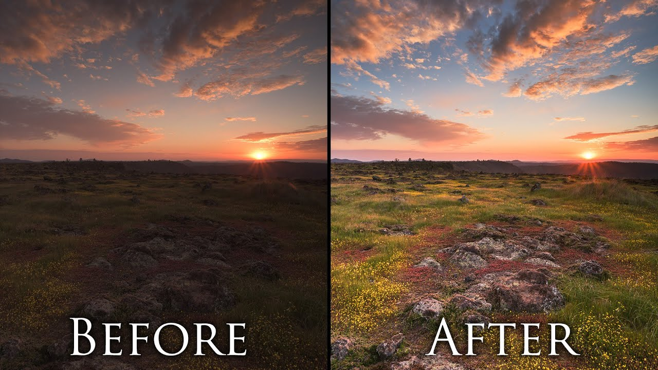Post processing landscape photos in 5 minutes photoshop for Professional landscape