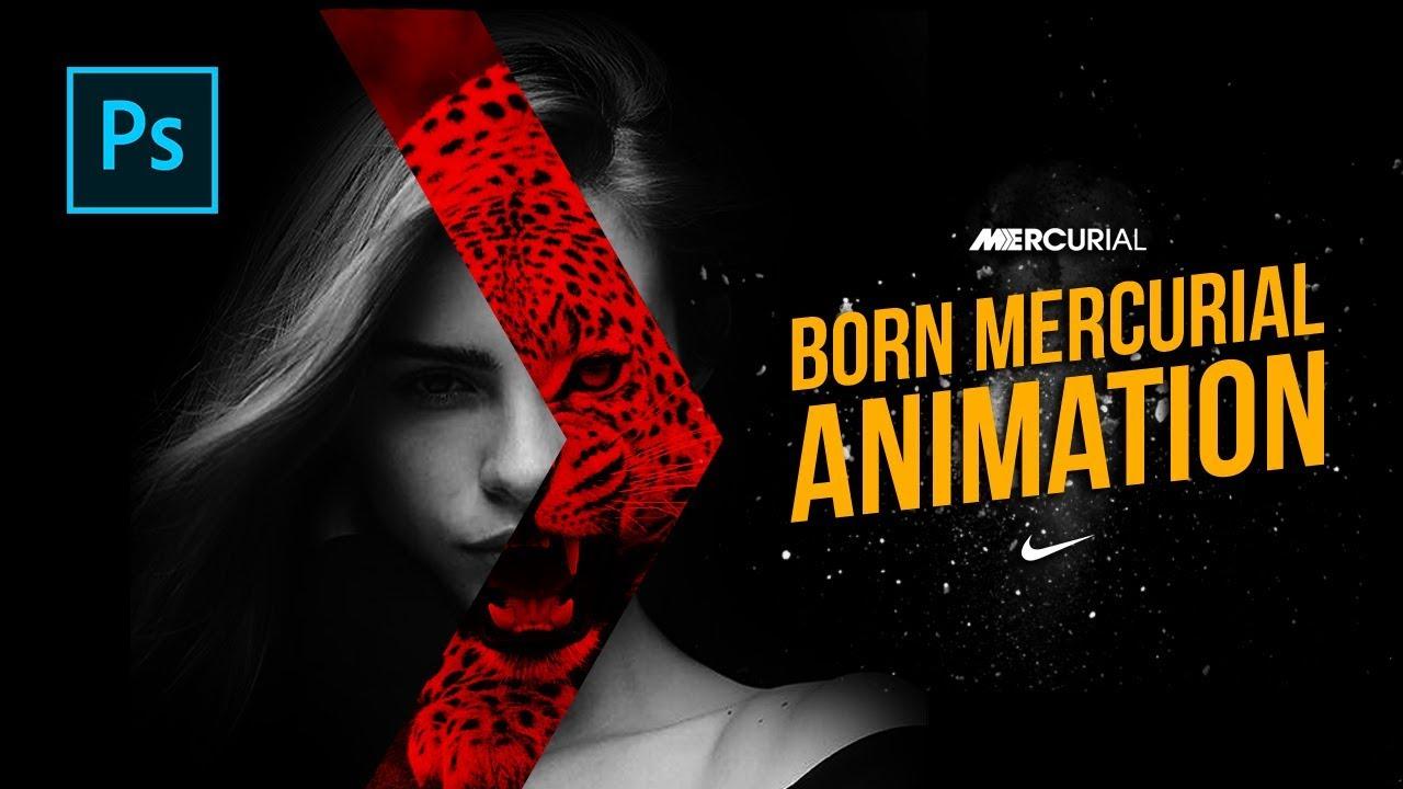 16cd183690f Cara Membuat Animasi Born Mercurial - NIKE Born Mercurial Animation -  Photoshop Tutorial Indonesia