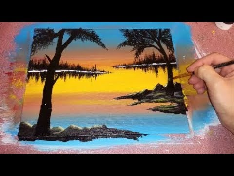 Beautiful Evening Sunset – Acrylic Painting