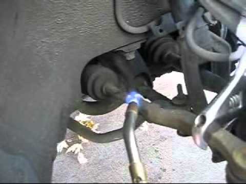 HOW TO REMOVE A FROZEN STUCK BOLT on a TIE ROD END with a torch