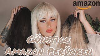 GÜNSTIGE SYNTHETIK PERÜCKEN VON AMAZON 😍 Wig Try On Haul 🎀