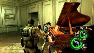 Resident Evil 5 - Lost in Nightmares - Jill plays the Moonlight Sonata (Long version)