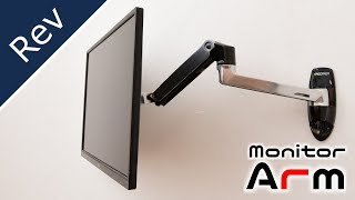 Organize desks with monitor arms! Comfortable working desk