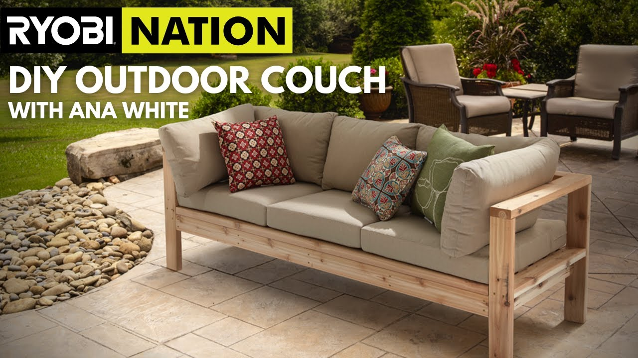 Ana White Outdoor Couch How To Youtube